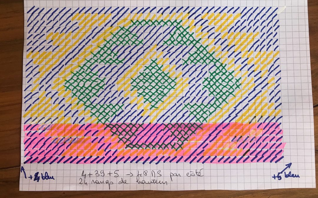 Pochette Mochilla au «Crochet Freeform»