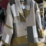 veste patchwork en laine